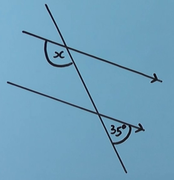 Alternate angles on parallel lines