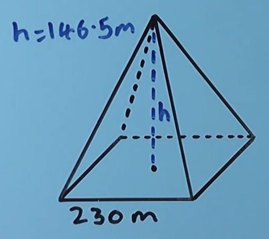 Volume of a square based pyramid